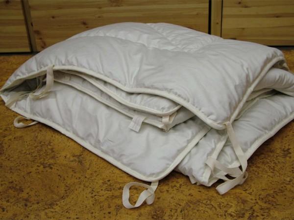 Steppdecke - 155 x 220 cm 1200g Wolle (kbT)