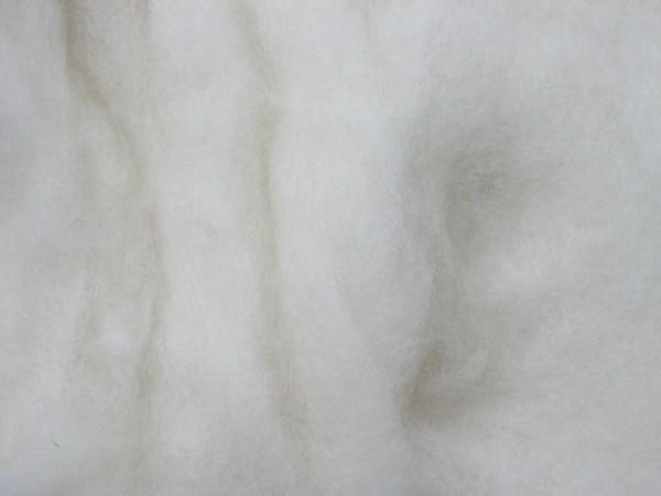 Merinowolle - arktisweiß extra fein im Vlies
