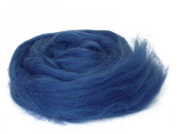 Bergschafwolle (bunt) - tintenblau mittelfein im Band
