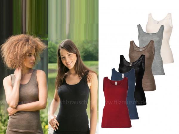 Damen-Trägerhemd, 70% Schurwolle/30%Seide (Bio-GOTS)