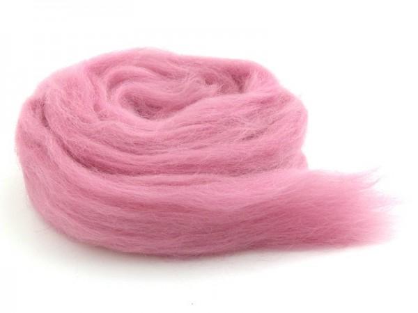 Bergschafwolle (bunt) - zuckergussrosa mittelfein im Band