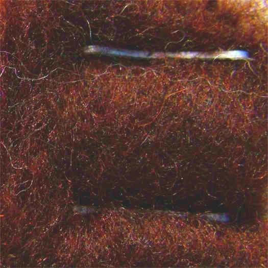 Merinowolle (bunt) - rehbraun extra fein im Vlies