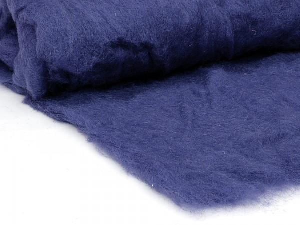 Bergschafwolle (bunt) - blaubeerblau mittelfein im Vlies
