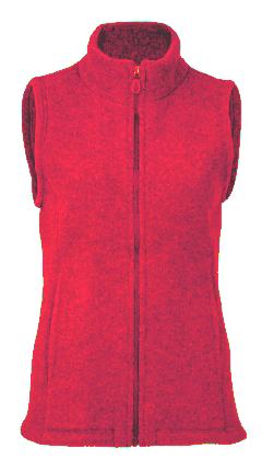 Damen Weste, rotmelange, 34/36, 100% Schurwolle (kbT)