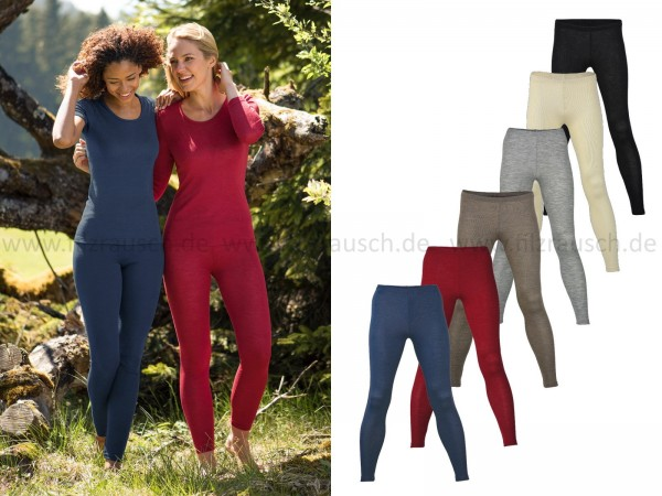 Damen-Leggings, 70% Schurwolle/30%Seide (Bio-GOTS)