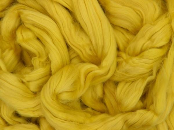 Baumwolle, zitronenfaltergelb sehr fein im Band