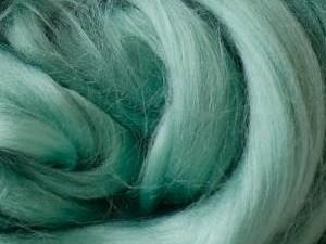 lieferbar ab ca. Mitte Juni in ca. 35 Farben - Viskose, grüntürkis-hell sehr fein im Band