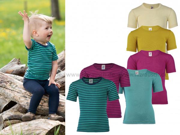 Kinder-Shirt kurzarm, 70% Schurwolle/30%Seide (Bio-GOTS)