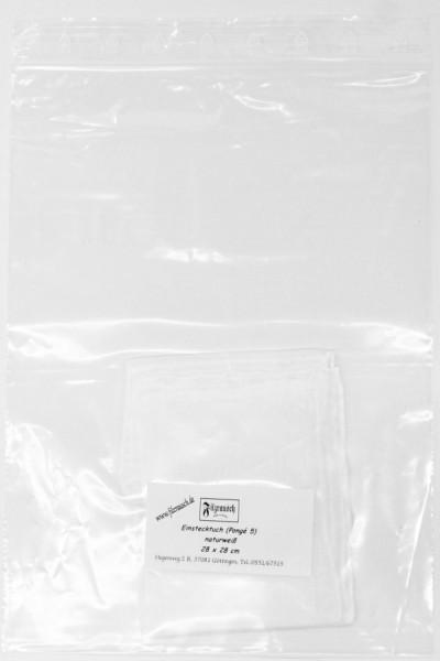 Einstecktuch Pongé 5 - naturweiß 28x28 cm