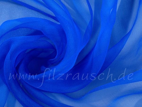 Chiffon 3,5 - azuritblau 110 cm breit pro 1 Meter