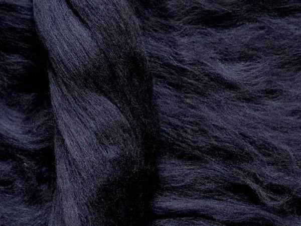Merinowolle - mitternachtsblau superfein 16 mic im Band