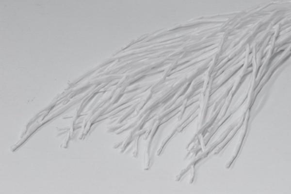 Seidenschnur 60 Stück, Pongé 5 - naturweiß 100 cm lang