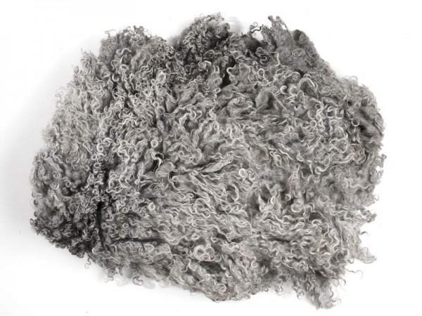 Toupetlocken - grau mittelfein 1 kg (ungewaschen)
