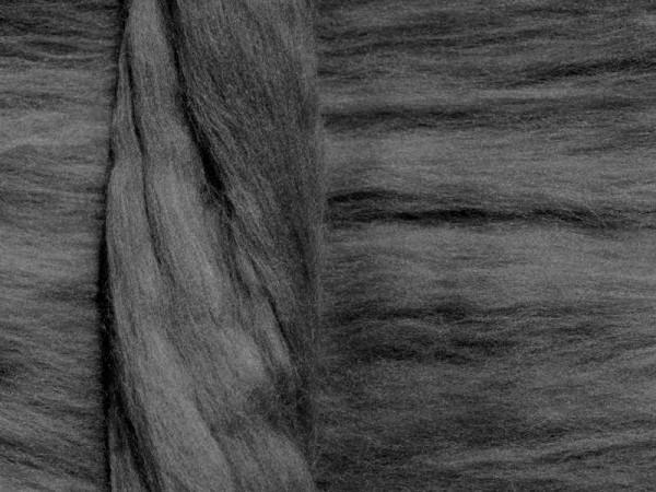 Merinowolle - graureihergrau superfein 16 mic im Band