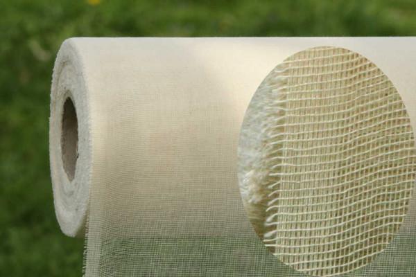 Sonderposten 3,25€/m Länge: 40cm Rest Baumwollgaze naturweiß Breite: 122 cm BG001X