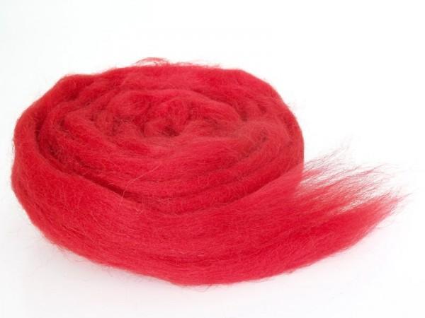 Bergschafwolle (bunt) - erdbeerrot mittelfein im Band