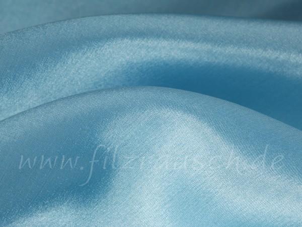 Pongé 5 - azurblau 90 cm breit pro 1 Meter