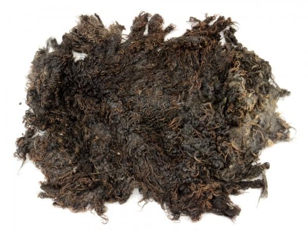 Toupetlocken - braun mittelfein 1 kg (ungewaschen)