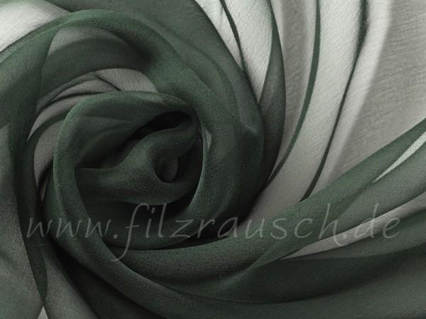 Chiffon 3,5 - nachtgrün 110 cm breit pro 1 Meter