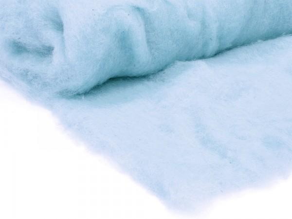 Bergschafwolle (bunt) - morgenblau mittelfein im Vlies