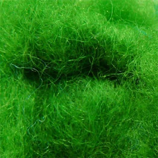 Merinowolle (bunt) - grasgrün extra fein im Vlies