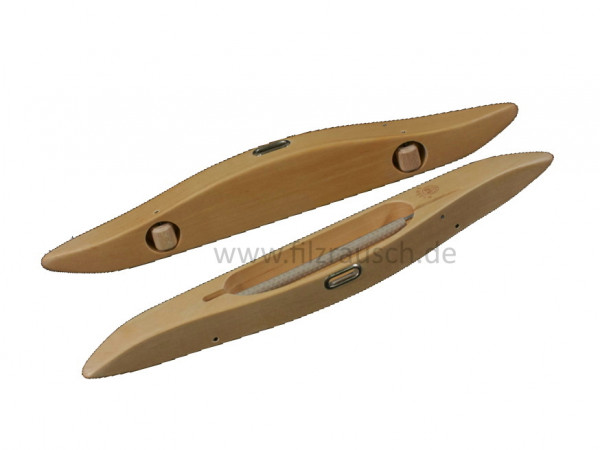 Glimakra Handschütze /Webschiffchen, flach mit Rollen und mit Boden 31cm 16F