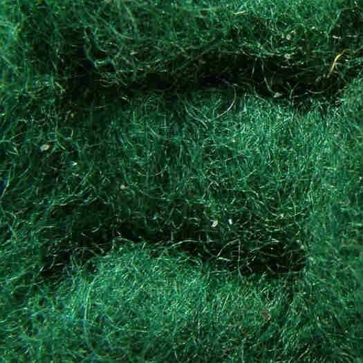 Merinowolle (bunt) - tannengrün extra fein im Vlies
