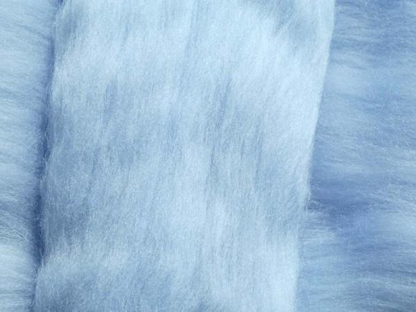 Merinowolle - kristallblau superfein 16 mic im Band