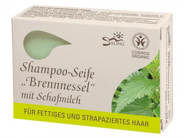 "Shampoo-Seife Saling Bio Schafmilch ""Brennnessel"", 125 g (9221)"