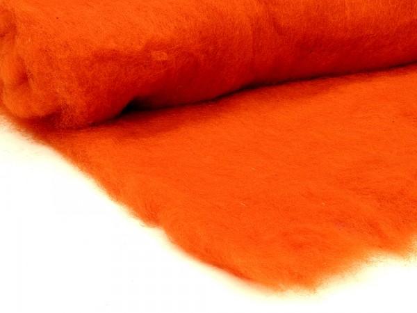 Bergschafwolle (bunt) - pumucklorange mittelfein im Vlies