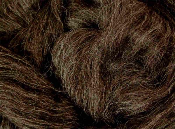 Alpacawolle - dunkelgrau sehr fein im Band