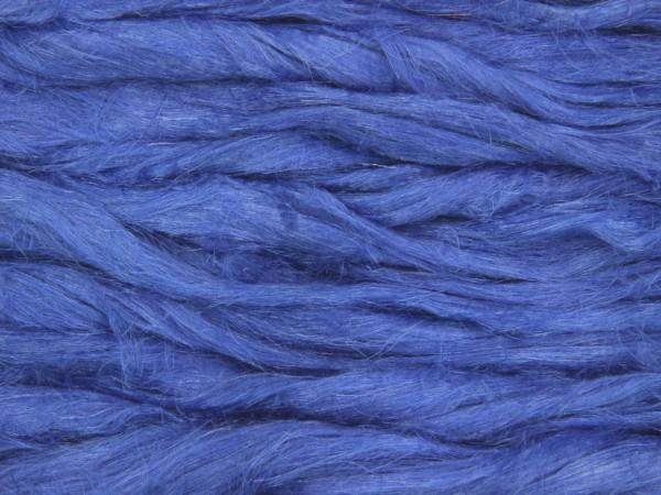 Leinen (bunt) - glockenblumenblau im Band