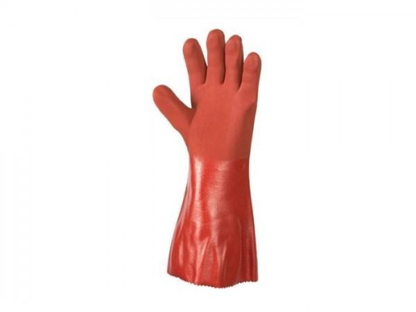 Savety Handschuhe PVC rot, Gr. 9/10, extra stark, ca. 40cm lang