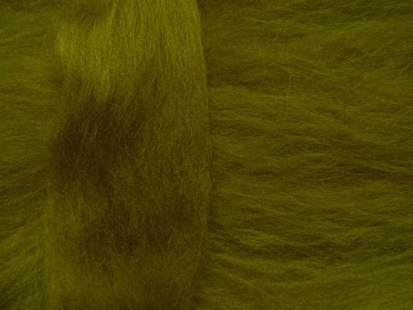 Merinowolle - olivgrün superfein 16 mic im Band