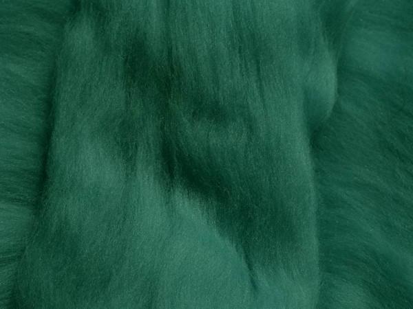 Merinowolle - agavengrünblau superfein 16 mic im Band