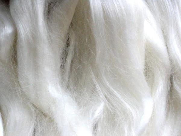 Tencel (100% Lyocell-Cellulose) - glänzend weiß im Band