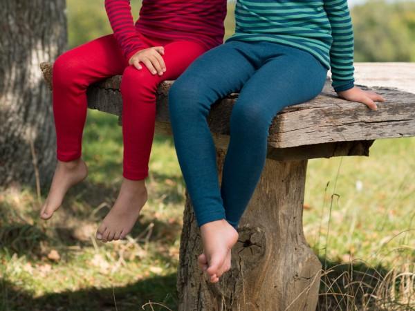 Kinder-Leggings, GOTS - kirschrot - 176