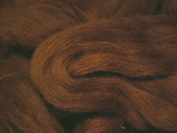 Alpacawolle - braun-hell sehr fein im Band