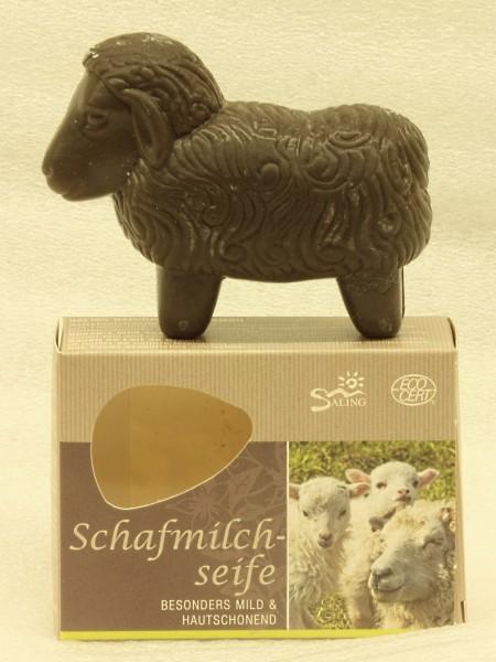 Saling Schafmilchseife schwarzes Schaf, 85g, Schachtel