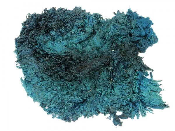 Sonderposten Toupetlocken - türkis mittelfein 1kg - gefärbt