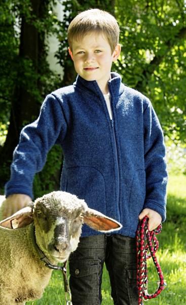 Kinder Jacke, saphirblau, 152, 100% Schurwolle (kbT)