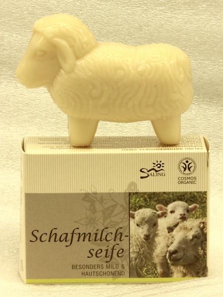 Saling Schafmilchseife weißes Schaf, 85g, Schachtel