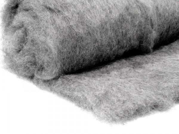 Bergschafwolle (bunt) - grau 35 mittelfein im Vlies