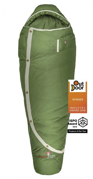 Biopod DownWool Nature 215 / +1°C 1650g mit 100% natürlichen Materialien Füllung:Wolle/Daune