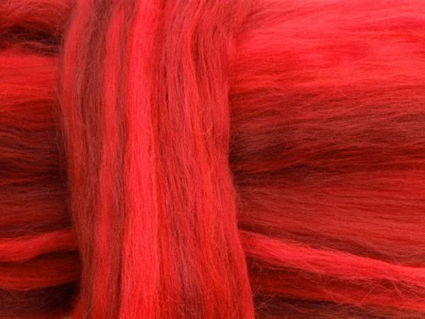 Merino-Melange - rote liebe superfein 16 mic im Band