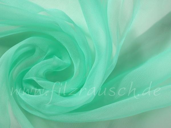 Chiffon 3,5 - smaragdgrün 110 cm breit pro 1 Meter