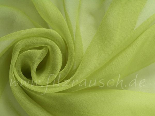 Chiffon 3,5 - frühlingsgrün 110 cm breit pro 1 Meter