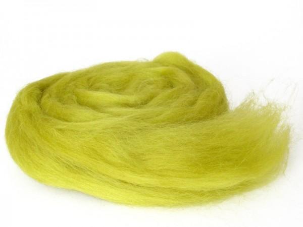 Bergschafwolle (bunt) - junges grün mittelfein im Band