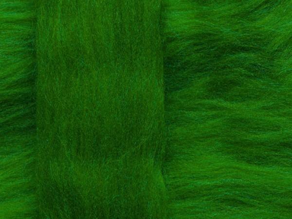 Merinowolle - irischgrün superfein 16 mic im Band