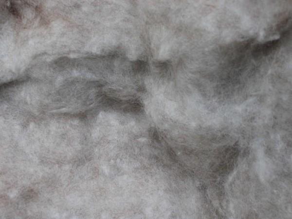 Merinowolle - graubraun meliert - hell extra fein im Vlies